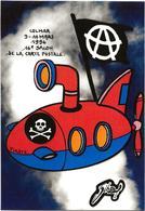 CPM Colmar Jihel Tirage Signé 30 Exemplaires Numérotés Signés Sous Marin Anarchie Salon Pirate 1996 - Colmar