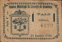 CÉDULA DE 1 CENTAVO SÉRIE C Nº.4472-28 JANEIRO 1920- CÂMARA MUNICIPAL DA AZAMBUJA - Portugal