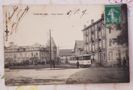 LONGWY-BAS (54) Place Giraud. Carte Animée. Tramway. Hotel Du Commerce - Longwy
