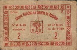 CÉDULA DE 2 CENTAVOS SÉRIE E-28 JANEIRO 1920- CÂMARA MUNICIPAL DA AZAMBUJA - Portugal