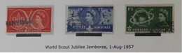 GRANDE BRETAGNE N° 302 à 304 Oblitérés ANGLETERRE  - 1957 - Gebraucht