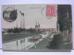 72 - NOYEN - LE CANAL - ANIMEE - COLORISEE - 1907 - France