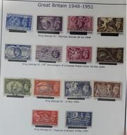 GRANDE BRETAGNE N° 241 à 244 + 246 à 249 + 256 à 259 + 260 à 261 Oblitérés ANGLETERRE  - 1948 1951 - Gebraucht