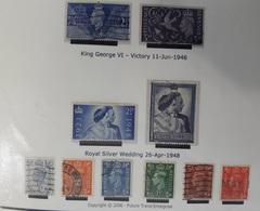 GRANDE BRETAGNE N° 235 à 238 + 251 à 255 Oblitérés ANGLETERRE  - 1946 1948 - Gebraucht