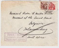 1940, Brief Nach Afrika, Retour-Stp.  , #a912 - Schweiz