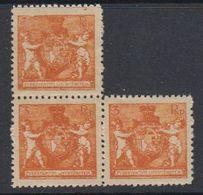 Liechtenstein 1921 Definitives / Landeswappen 3Rp (Zahnung 12,50) 3x ** Mnh  (40316) - Liechtenstein