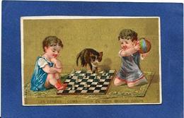 Chromo échecs Playing Chess Chat Cat - Chess