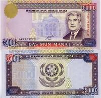 TURKMENISTAN       5000 Manat       P-12b       2000       UNC - Turkmenistan