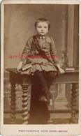 A Voir CDV Vers 1875 -éducation-élève Récompensé Pour Sa Sagesse (écharpe) Remise De Prix-photo Léon Caron à AMIENS - Photos