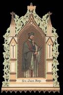 """San Giovanni Nepomuceno (Jan Di Nepomuk) / Patrono Della Boemia - (area Ceca - Fine Ottocento) - """"Riproduzione"""" - Imágenes Religiosas"""