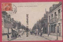 62 -LA VENTIE ( LAVENTIE )  --Rue Des Clinques Et Mairie--animé - Laventie