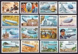 Nicaragua MNH Set - Zeppelins