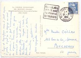 France Carte Obl Daguin Beaulieu Le Site Aimé Du Peintre Du Touriste Correze - Postmark Collection (Covers)
