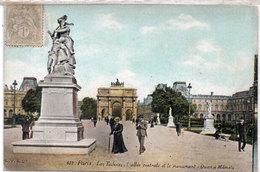 """PARIS - Les Tuileries, L' Allée Centrale Et Le Monument """"Quand Memel""""   (109492) - France"""