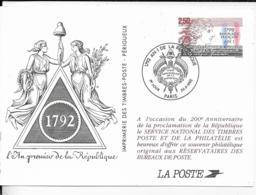 SOUVENIR PHILATELIQUE .-1992 .- L' An Premier De La République 1792 - Gibraltar