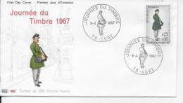 70.- LURE 1967 JOURNEE DU TIMBRE - 1960-1969