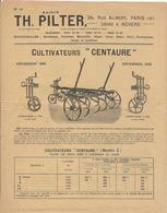 """Publicite Cultivateurs """" Centaure"""" Decembre 1925 Th  Pilter Paris - Nevers Herses 4 Pages - Publicités"""