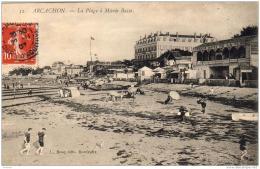 D33  ARCACHON  La Plage à Marée Basse  ..... - Arcachon