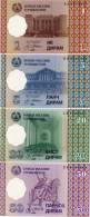 TAJIKISTAN     Set / Serie 1-5-20-50 Diram     P-10→13     1999     UNC - Tagikistan