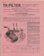 1925 Th  Pilter Paris - Nevers Herses Pulveriseurs Cultivateurs Dechaumeurs,scarificateurs (1 Dechirure En Bas) - Publicités