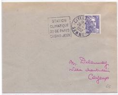 France Lettre Obl Daguin Station Climatique 3 H De Paris Casino Jeux Cayeux Sur Mer Somme - Postmark Collection (Covers)