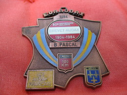Médaille De Sport/Cyclisme/ EURAUDAX/100 KM/ 80 éme Anniversaire/ BRIVE/Les Audax Français/1984    SPO289 - Cyclisme