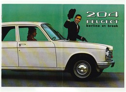 CATALOGUE SUR LA PEUGEOT 204 Berline Et Break - Automobile