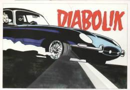 FDK 088 Diabolik  Eva Kant Disegno Sergio Zaniboni - EMA - Veronafil Specimen Diabolik Eva Kant 2/3 Jaguar E-Type - Fumetti
