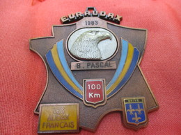 Médaille De Sport/Cyclisme/ EURAUDAX/100 KM/ / BRIVE/Les Audax Français/1983    SPO291 - Cyclisme