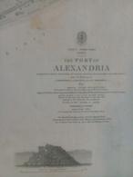 Grande Carte Charts Port Alexandria - Cartes Marines