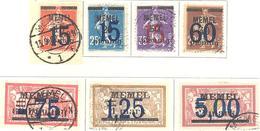 Memel: Yvert N° 38/44° - Memel (1920-1924)