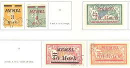 Memel: Yvert N° 86/93°; 5 Valeurs - Memel (1920-1924)
