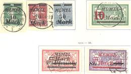 Memel: Yvert N° 79/85°; Sauf 83; 6 Valeurs - Memel (1920-1924)