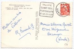 France Carte Obl Daguin Valloire Climat Ideal Pour Enfants Et Coloniaux Savoie - Postmark Collection (Covers)