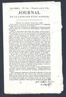 Journal De La Lorraine Et Du Barrois Du 14 Août 1814 ( Napoléon I ) Avec De Beaux Cachets - 1800 - 1849