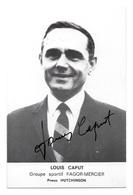 CARTE CYCLISME LOUIS CAPUT SIGNEE TEAM FAGOR - MERCIER 1970 - Cycling