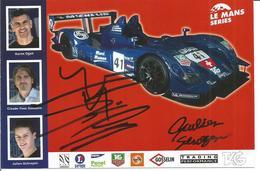 Carte TEAM TRADING PERFORMANCE ( ZYTEK 07/S LMP2 ) Dédicacée Par Les Pilotes - Endurance Le Mans Series - Authographs