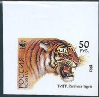 B2143 Russia Rossija Animal Fauna Cat-of-Prey Tiger (50 Rubel) Organization WWF Colour Proof - Errors & Oddities