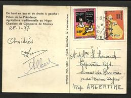 NIGER 1977 TO ARGENTINA CARD, VERY RARE DESTINATION - Niger (1960-...)