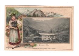 02733 Tirol Griesener Alm Embossed Card - Österreich