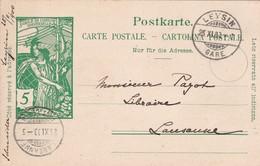 Postkarte, Cartolina Postale, Jubile De L'Union Postale Universelle. Gelaufen V. LEYSIN N. LAUSANNE Am 25.XI.1900 - Entiers Postaux