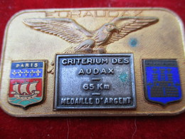 Médaille De Sport/Cyclisme/EURAUDAX/265 KM/Aigle à Ailes Déployées/PARIS-PIERREFONDS/vers 1960   SPO322 - Cyclisme