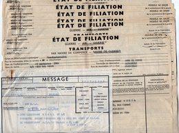 VP12.828 - MILITARIA - 7 Ordres De Transports Par Navire - Soldat J.C HIREL Né à MOUTIERS - Documents