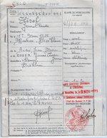 VP12.829 - MILITARIA - VERSAILLES - Livret Militaire ( Copie Certifiée Conforme ) - Soldat J.C HIREL Né à MOUTIERS - Documents