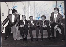 LARGE DEDICATED PHOTO ** SILVIO SILVEIRA AND HIS BRAZILIAN ORCHESTRA ** RARE ( 1966 CASINO KNOKKE ) - Foto Dedicate