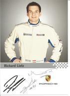 Carte  PORSCHE 911 GT3 RSR  Dédicacée Par Richard Lietz - LE MANS ENDURANCE SERIES - Autographes