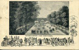 37511 Bayern,circuled Postcard 1912 From Bocklet To Brandenburg Showing Kurgarten Und Brunnen,(see 2 Scan) - Beieren