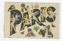 Carte Postale Paris Erotique De Style Sager - Sager, Xavier
