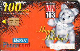 PHILIPPINES - Happy Holidays, Calendar, Bayan Telecom Telecard, Exp.date 31/12/02, Used - Philippines