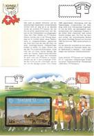 Telefonkartenbrief: Taxcard WOK Bauernmalerei, Marke Appenzell, Stempel PTT Musem - Schweiz